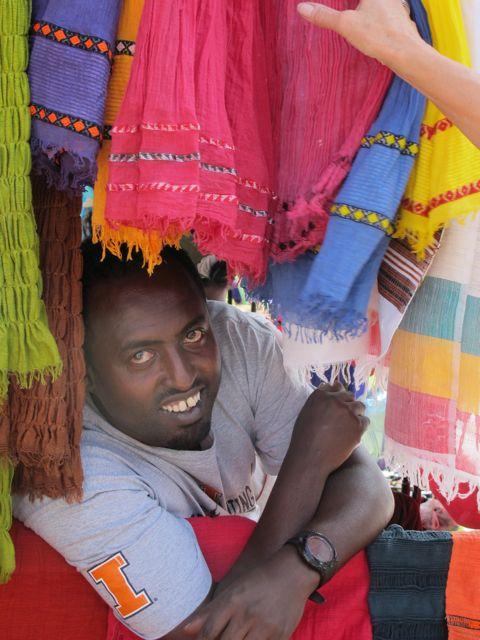 scarf seller