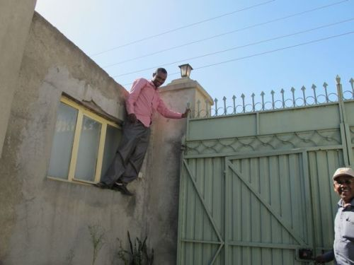 electrician on roof