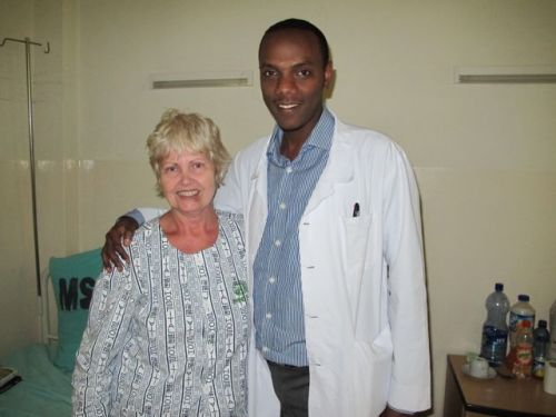 Vanda with emergency room Dr Bereket