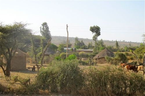 villages along the road