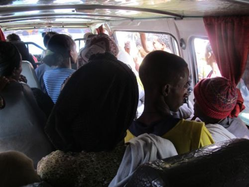 crowded bus in gashena
