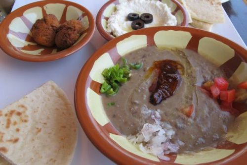 Foul arabic breakfast at Fusion Bistro