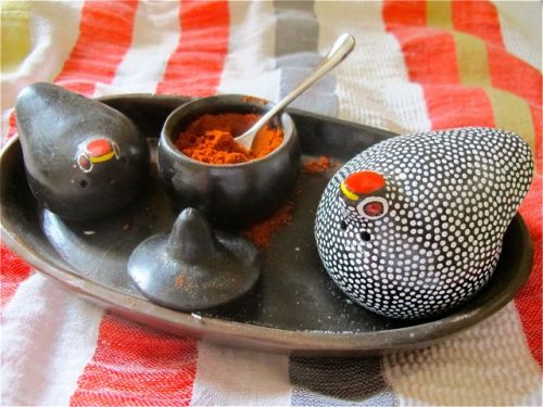 pepper berbere and salt dish