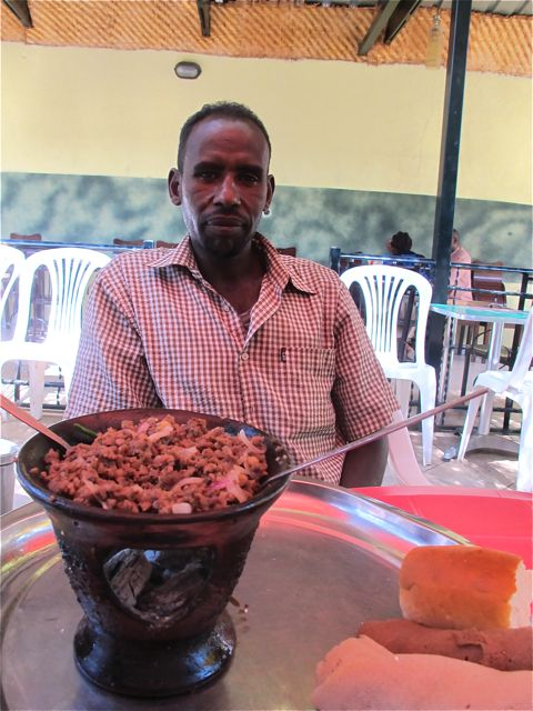 deribe driver at lunch in shashemene