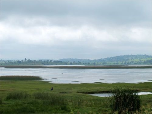 lake along road to harar